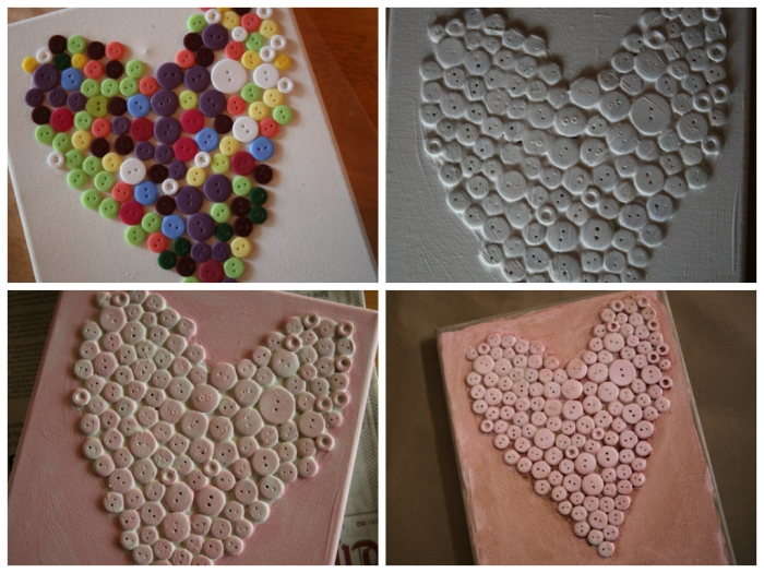 buttonheart collage